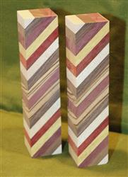 "Blank #742 - Striped Blanks - 2 Blanks ~ 1 1/2"" x 1 1/2"" x 7"" ~ $15.99"